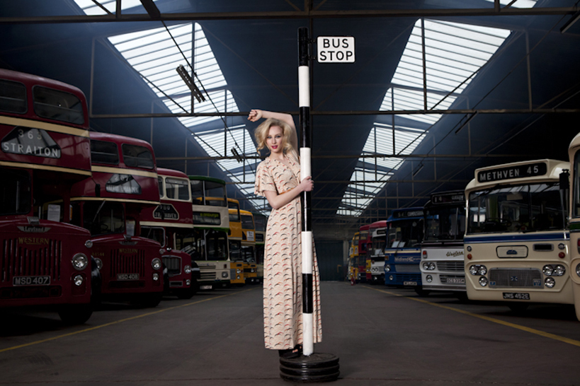 Fashion shoot at Glasgow Vintage Vehicle Trust