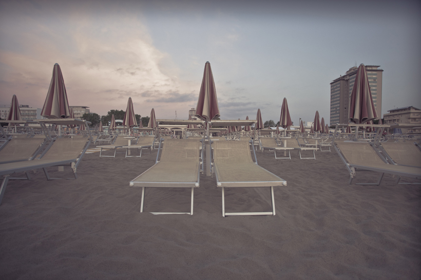 Empty beach, Italy