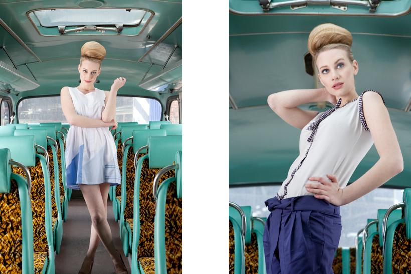 Fashion shoot at Glasgow Vintage Vehicle Trust